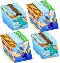 Amazon.com: Disney's Phineas and Ferb Birthday Party Napkins, 4 Packs of Napkins: Toys & Games