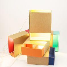 BOITE A LUMIERE - Lampe à poser Carton/Turquoise L17cm ¿adónde?