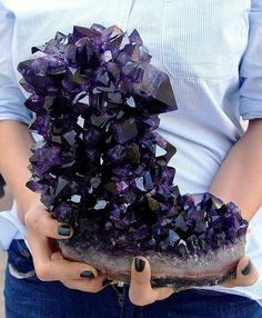 Amethyst | #Geology #GeologyPage #Mineral Locality: Artigas Uruguay Size: 8 inch tall Geology Page www.geologypage.com
