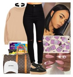 """""""Let's get lost"""" by msixo ❤ liked on Polyvore featuring Miss Selfridge, Louis Vuitton and Puma"""