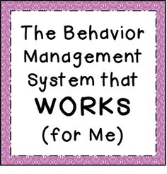 Finding JOY in 6th Grade: Day 18... The BEST Behavior Management System I've EVER Used...