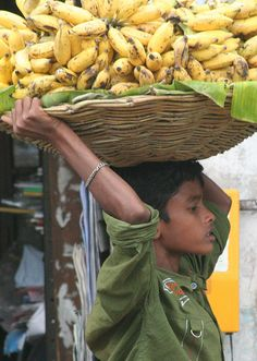 Banana Carrier, Madurai.  Tamil Nadu - India.