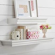 Shelves, Hooks, Decorative Wall Shelves & Wall Ledges | PBteen - perfect for my overabundance of books.