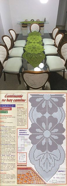 64 ideas for crochet table runner free pattern charts lace doilies Filet Crochet, Art Au Crochet, Crochet Doily Patterns, Crochet Home, Thread Crochet, Irish Crochet, Crochet Designs, Crochet Crafts, Crochet Doilies