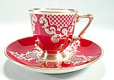 Heinrich Silver Overlay Demi Cup and Saucer Lacy Patter