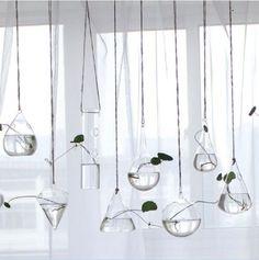 Glass Flower Planter Vase Home Garden Decor Wall Hang Terrarium Container #Unbranded