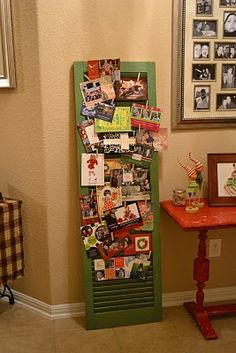 love the idea of using shutters for wedding  decor but then I can repurpose for a christmas card holder ..love it