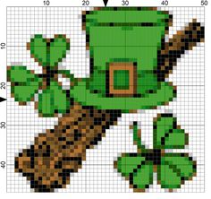 Traditional Needlepoint for St Patrick's Day. Now is the time to get ready for St. Patrick's Day celebrations with this free needlepoint chart for Day 67 of the 365 Needlepoint New Year's Resolutions Challenge. Needlepoint Designs, Needlepoint Stitches, Needlework, Cross Stitching, Cross Stitch Embroidery, Cross Stitch Patterns, Plastic Canvas Tissue Boxes, Plastic Canvas Patterns, Celtic Cross Stitch