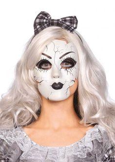 LAA2757 Sexy Leg Avenue PORCELAIN DOLL MASK Fancy Dress - doll mask (plastic) by Leg Avenue. Please Note: This Sexy Leg Avenue Fancy Dress Mask is available in