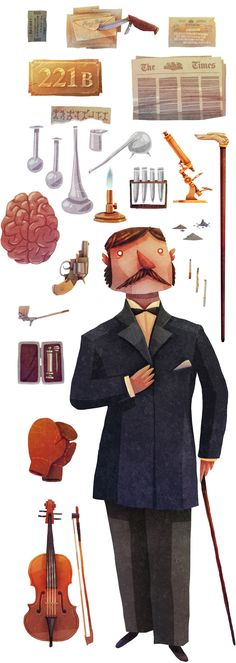 The Tools of a Consultant Detective by David Fernández Huerta, via Behance Character Concept, Character Art, Concept Art, Detective, Character Illustration, Illustration Art, Prop Design, Visual Development, Storyboard