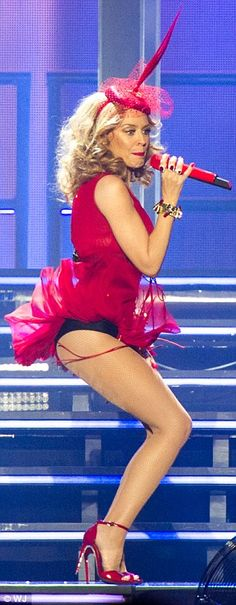 Bootylicious: Swirling away on stage to her catchy tunes, Kylie proved she still has the enviable figure and derriere first made famous by her golden hot pants back in the day