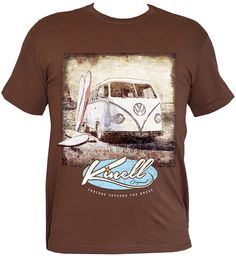 Kinell Vintage VW Campervan and Surfboard - Mens T-shirt  www.doubletroubleclothing.co.uk Available in a variety of colours. All T- shirts are Made to Order ... 72853e6d4