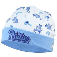 finest selection 56f2c fe7e3 Philadelphia Phillies Newborn White-Blue Reversible Knit Beanie by New Era.   15.95. Imported