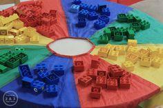 Preschool Color Game Using Legos