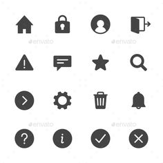 Basic Interface Icons — Vector EPS #user #block • Available here → https://graphicriver.net/item/basic-interface-icons/12429356?ref=pxcr