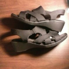 Shoes Black cut out sandals Faded Glory Shoes Sandals