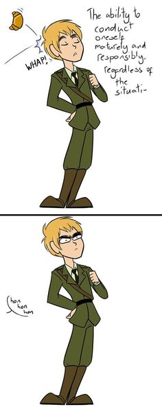 Hetalia: France and England. XD XD XD Did England's eyebrows get bigger???<<<<<reblogging for that commentXD. And this describes me around my classmates when I try to be a mature lady...