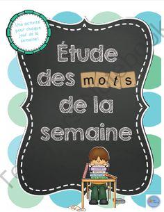 Trousse détude des mots de la semaine/ French word work study kit from MadameEmilie on TeachersNotebook.com -  (5 pages)  - Cette trousse d'étude des mots de la semaine contient 5 activités à reproduire pour l'étude de mots de vocabulaire.