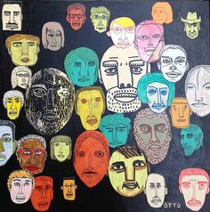Nate Otto, Faces on Black, 2012 by drollgirl, via Flickr