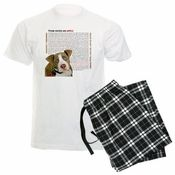 """Pit Bulls Need Your Help"" Mens Pajamas"