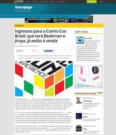 Ingressos para Comic Con Brasil, que terá Beakman e Jiraya, já estão à venda