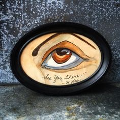 A personal favorite from my Etsy shop https://www.etsy.com/listing/287460079/folk-art-mixed-media-painting-eye-robert