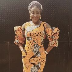 Ini Edo in African dress, African fashion, Ankara, kitenge, African women dresse.