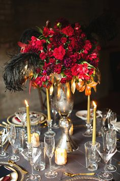 Ruby Red Wedding #Centerpieces I Julie Wilhite Photography I http://www.weddingwire.com/wedding-photos/i/winter-ballroom-romantic-hollywood-glam-formal-fall-museum-country-club-city-centerpiece-rose-red-avant-garde-black-gold/i/9e6af3a1025f2b44-7579deef21bdae7e/0b5b9d9bb027ebd0?tags=winter&page=1&cat=flowers&type=search
