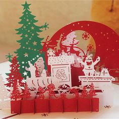 3D Christmas Cards Greeting Handmade Paper Card Personalized Keepsakes Postcards For Xmas Wedding Birthday Invitation #Affiliate