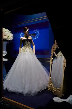 "Beautiful Dress by Harrods @ Harrods ""Once Upon A Dream"" Disney Princesses Window Display 2012"