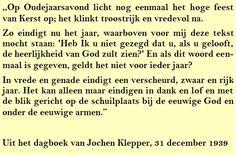 Quote. Oudejaarsavond 1939 - Citaat uit dagboek Jochen Klepper