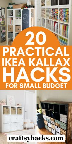 Loving the ikea kallax shelves? Try these ikea kallax ideas and use these ikea hacks to improve the way your home decor looks. #ikea #kallax #ikeahacks Ikea Kallax Shelving, Ikea Kallax Hack, Ikea Shelf Hack, Diy Storage Desk, Small Bathroom Paint Colors, Above Kitchen Cabinets, Bathroom Cabinets, Diy Bed, Ikea Furniture