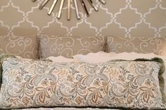 Welcome to the New Century: Modern Glam Master Bedroom - Southern Hospitality Glam Master Bedroom, Bedroom Decor, Master Suite, Bedroom Ideas, Neutral Bedrooms, Fashion Room, Home And Living, Bed Pillows, Interior Design