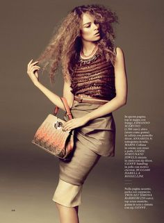 Tribal Chic   Gwen Loos   David Roemer #photography   Glamour Italy February 2012