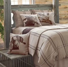 "Harrison Farmhouse Linen Duvet Cover -  Country chic! Say, ""I duvet!"" to our durable, rustic linen bedcover in a versatile coffee-and-toast colored palette.100% LinenPainted Fox Farmhouse Bedding is sure to bring pure delight to your farmhouse."