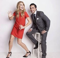 LOOK AT THEM. Grace Helbig and Chester See.