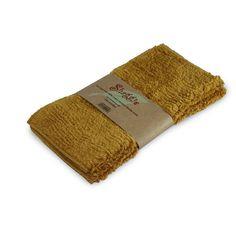 Shaggie 10x10-inch Mustard Chenille Dish/ Washcloth (Set of 2) (Mustard), Yellow (Cotton)
