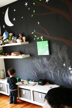 Idée pour chambre d'enfant colorée / couleur déco / playroom bedroom kids color / Gloewen et Scrat