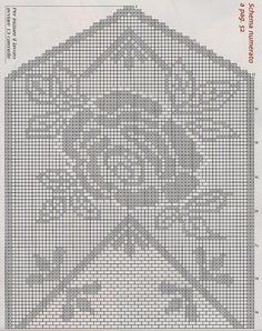 Kira scheme crochet: Two large roses