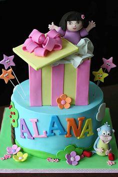 Dora The Explorer And Boots Cake  Sugar Pie Gourmet Cakes  Classes cakepins.com