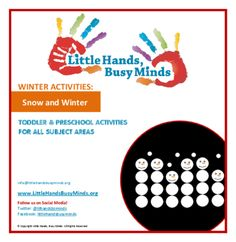 SNOW AND WINTER - Weekly Thematic Unit for Toddlers and Pre-K Children from LittleHands-BusyMinds on TeachersNotebook.com -  - A weekly unit with five days of activities in all subject areas (math, science, circle time, etc.).  Includes planning web.  Activities are aligned with the learning standards.
