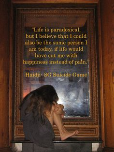 Haidji: Paradox - Book Quote - SG Suicide Game by Haidji