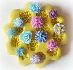 Flower Cabochon Mold Silicone Flexible Resin Mold. $11.95, via Etsy.  good for last minute 'cheat' flowers