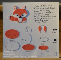 Stampin' Up! Punch Art: What does the fox say....