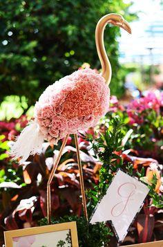 Flamingo and Palm Baby Shower. Flamingo made of pink flowers Flamingo Baby Shower, Flamingo Flower, Flamingo Birthday, Flamingo Party, Pink Flamingos, Flamingo Casino, Flamingo Gifts, Tropical Home Decor, Tropical Party