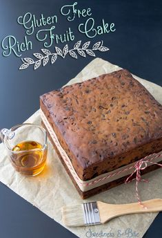 A rich, moist gluten free fruit cake, laced with brandy ~ the perfect gluten free Christmas cake or traditional wedding cake. A rich, moist gluten free fruit cake, laced with brandy ~ the perfect gluten free Christmas cake or traditional wedding cake. Gluten Free Sweets, Gluten Free Cakes, Gluten Free Baking, Gluten Free Xmas Cake, Delicious Cake Recipes, Yummy Cakes, Moist Fruit Cake Recipe, Fruit Wedding Cake, Wedding Desserts