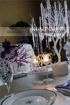 Winter Wonderland Table Decorations | Winter Wonderland Table