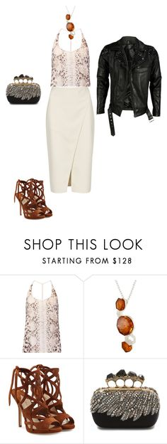 """""""Dark night outfit"""" by arcticjasmine on Polyvore featuring Haute Hippie, Acne Studios, Be-Jewelled, Paul Andrew, Alexander McQueen and VIPARO"""