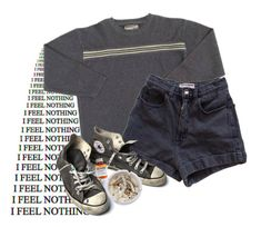 """""""cigarettes & numbness"""" by amandalucky ❤ liked on Polyvore featuring American Apparel, Converse, Børn, Ash and modern"""