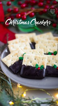 Christmas Crackers Best Appetizer Recipes, Best Appetizers, Mexican Food Recipes, Potluck Recipes, Chocolate Toffee, Chocolate Chip Cookies, Kos, Christmas Crackers, Cupcakes